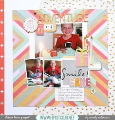Adventures at 4 - Pinkfresh Studio (Happy Things), American Crafts (Dear Lizzy), Crate Paper (Wonder Collection) - Scrapbook.com