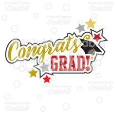 Congrats Grad Graduation Scrapbook Title SVG Cut Files & Clipart - Scrapbook cut files for your Silhouette or Cricut cutting machines! Commercial Use included! #scrapbooking #cardmaking #papercraft #vinylideas #vinylcrafts #cutfiles #cutfilessvg #cuttingfiles #svgfiles #scrapbookcutting #graduationdecorations #classof2016 #graduationprintables #partyprintables