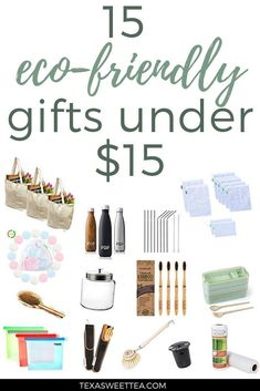 15 Eco-Friendly Gifts for Under $15 #gifts #giftideas #zerowaste #lowastelife
