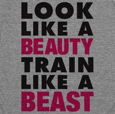 Look Like A Beauty Train Like A Beast American by ActivateApparel