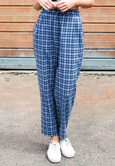 719a993976 Vintage+90s+Check+Trousers Checked Trousers