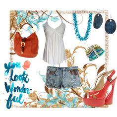 summer splash, created by kathyborie7 on Polyvore