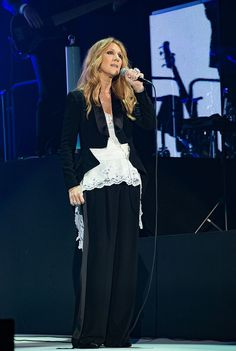 Celine Dion Performs At AccorHotels Arena Bercy In Paris