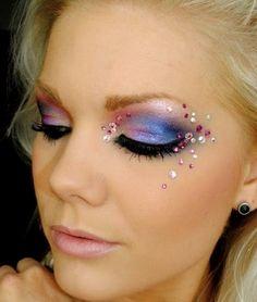 gorgeous #pink #rhinestones #eyelashes