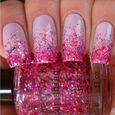 Ombre Glitter Nails   valenciaaaaaaaa