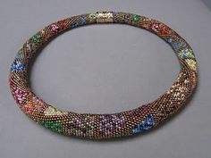 Gorgeous crochet necklace by Brigitte Ilaender