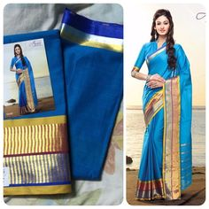 """Weekend saree sale"" Pls call/whatsapp +919600639563. Code: ddc blue Price: 2799/- Material: Soft cotton. For booking and further details pls call or whatsapp us at +919600639563. Happy shopping y'all :) Be Beautiful :)"