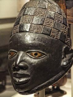 Mask for Gelede (Igi) attributed to Idowu Olalaiye Yoruba Ota Awori region Nigeria Early-Mid 20th century Wood and Kaolin