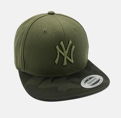 d9b2b41436a New York Yankees Olive Khaki Snapback MLB Baseball Cap Free Worldwide  Shipping
