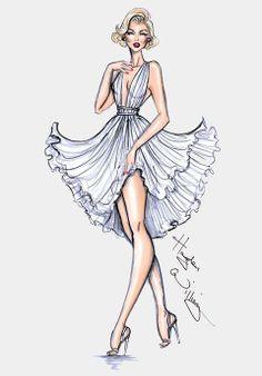 Fashion drawing #sketches #bocetos #vestidos