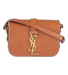 3eb8d2a5a34f SAINT LAURENT Sac Universite small leather shoulder bag (Gold tan