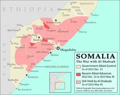 Somalia map with capital Mogadishu | home | Pinterest | Africa