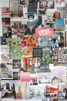 inspiration board - Erin Gates of Elements of Style - office tour via The Everygirl