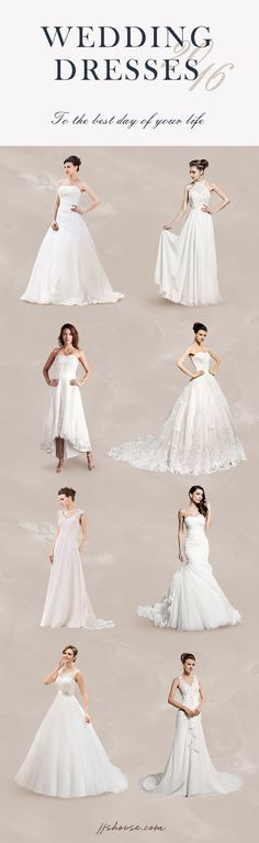 JJsHouse has the perfect Bridal Collection for you. Choose your Silhouette from  Ball-Gown, Empire, Trumpet/Mermaid, Sheath, and A-Line/Princess. Choose according to season, style, neckline, length, fabric and many more! We have your dream dress, take a look today! #jjshouse