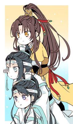 Looking for Chinese web novels like Mo Dao Zu Shi/Grandmaster of Demonic Cultivation? Find out more on Flying Lines ❤❤❤ Anime Chibi, Chibi Kawaii, Art Anime, Cute Chibi, Manga Anime, Jing Ling, Fan Art Naruto, Animé Fan Art, Anime Lindo