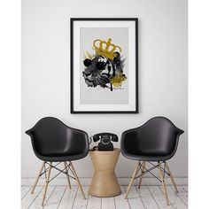 'The King' Scandinavian home with a hint of yellow. #poster #interior #design #scandinavian #home #nordic