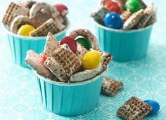 Chocolate Chex® Marshmallow Clusters    Just four ingredients make a lovable crunchy treat for the whole family.