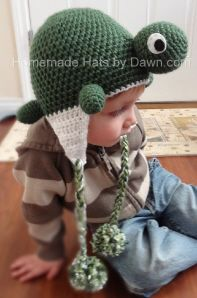 Turtley Cute crochet turtle hat - $20