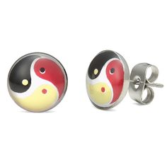 yin yang earrings - Google Search