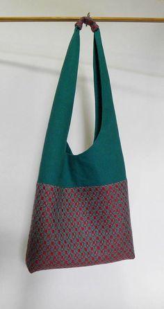 handwoven sling bag.