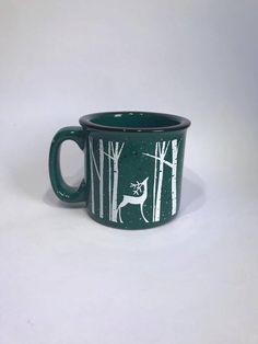 Reindeer campfire mug//reindeer coffee cup//coffee cup//campfire mug by Napcreations on Etsy