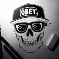 Skull > Obey