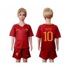 As Roma Fotbalové oblečení pro děti 16-17 Franciesco Totti 10 Domácí dres komplet