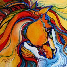 Art: SOUTHWEST ABSTRACT HORSE by Artist Marcia Baldwin