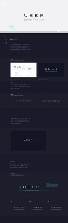 Uber has an online version of their Brand Guidelines. It's accessible by anyone and is a great resource for inspiration and reference. #identity #logotype