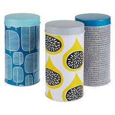 Buy MissPrint Storage Tins, Set of 3 Online at johnlewis.com