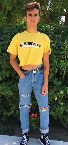 male crop top (vintage top men)