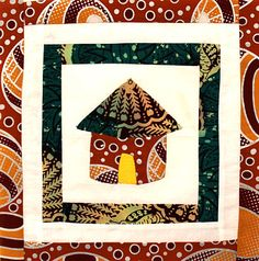 The quilting magazine quilters love African Quilts, African Textiles, African Fabric, House Quilt Block, House Quilts, Quilt Blocks, African Hut, Quilt Patterns, Floral Patterns