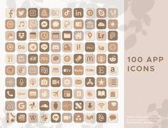 Neutral Boho iOS14 App Icons | 100 JPG App Icons | Design Icons | iPhone Icons | HomeScreen Icons | iOS Application Icons