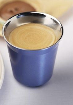 Nespresso Pixie Lungo Vivalto Cups   Enjoy your morning espresso in a radiant and sleek stainless steel cup. They make great gifts for the holidays, too!