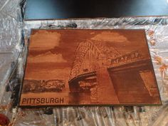 Cnc milled image of Pittsburgh