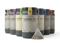 + Design de embalagem :     Projeto desenvolvido pela R/West, para a empresa de chá Paromi Artisan Tea.