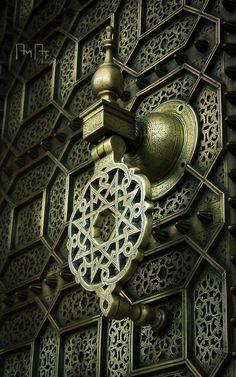 Ornately designed door. Arabesque.