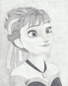 51 Ideas disney art drawings sketches pencil anna frozen for 2019 Anna Frozen Drawing, Frozen Drawings, Disney Drawings Sketches, Disney Princess Drawings, Disney Princess Art, Art Drawings Sketches Simple, Disney Fan Art, Cartoon Drawings, Cute Drawings