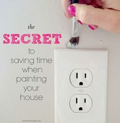 Artist brushes make painting around even the most difficult household items (doorknobs, outlets, you name it) a breeze. Use 'em to touch up knicks and marks on your walls, too. Get the tutorial at Live Love DIY » - GoodHousekeeping.com