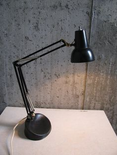 Articulating LUXO 1960's Architect Desk Lamp by stukinmidcentury, $65.00