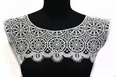 White Necklace Lace Crochet Collar Yoke Applique by STARibbon on Etsy https://www.etsy.com/listing/239112757/white-necklace-lace-crochet-collar-yoke