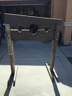 Stocks, or pillory as it's also known. Made this for my pirate days.