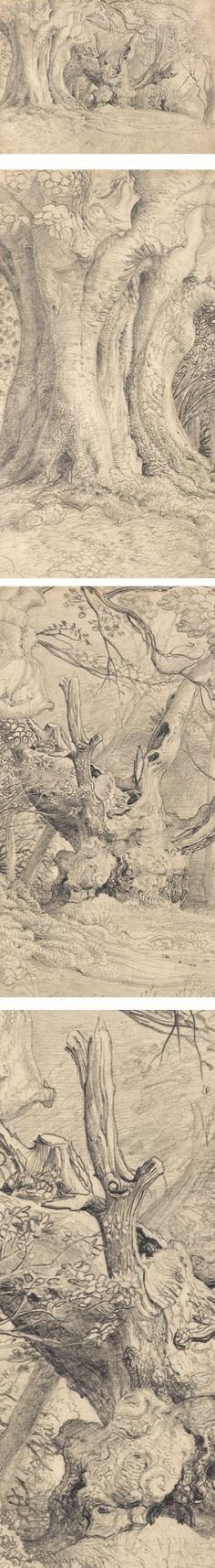 Lines and Colors: a blog about drawing, painting, illustration, comics, concept art and other visual arts » Eye Candy for Today: Samuel Palmer graphite drawing