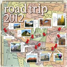Papercraft Scrapbook Layout Road Trip 2012