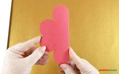 Make a Pop-Up Heart Rainbow Card - Jennifer Maker Heart Pop Up Card, Heart Cards, 3d Cards, Pop Up Cards, Diy And Crafts, Crafts For Kids, Paper Crafts, Pop Up Card Templates, Rainbow Card