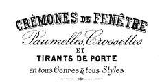 cremones de fenetre tres postal transfer Vintage Clip Art - Beautiful French Typography - The Graphics Fairy Clip Art Vintage, Vintage Tags, Vintage Labels, Vintage Ephemera, Printable Vintage, Printable Tags, French Typography, Vintage Typography, Typography Design