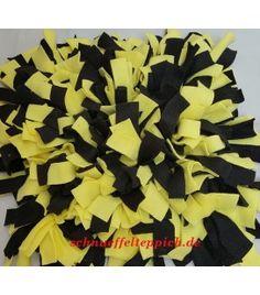 Schnüffelteppich schwarz/gelb