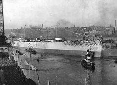 Launching of the battleship Bismarck