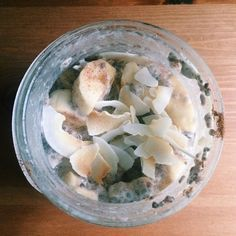 Prepped this chia pudding yesterday and added cinnamon  bananas  toasted coconut this morning. Scarfing it down before I run over to the DMV to renew my drivers license. Don't be jealous!! I'll probably come home and have a second breakfast. Just sayin.  #whole30 #w30 #whole30mom #whole30life #whole30alum #paleofood #paleodiet #paleo #progressnotperfection #loveyourbody #cleaneats #cleaneating #jerf #justeatrealfood #itstartswithfood #iamwhole30 #whole30breastfeeding #healthyfats…