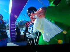 Knitter spotted at top of Slopestyle course SOCHI 2014 Olympics-I saw this on TV (several times)